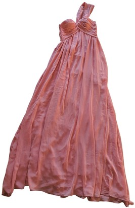 MSGM Pink Polyester Dresses
