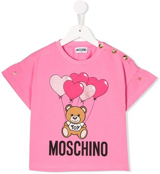 MOSCHINO BAMBINO TEEN Teddy Bear balloon T-shirt