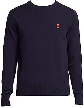 Ami Paris Men's Logo-Embroidered Sweater