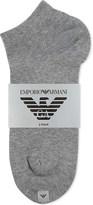 Emporio Armani Pack of two logo cotton trainer socks