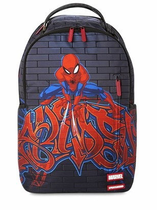 Sprayground Spiderman Printed Canvas Backpack
