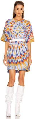 Raquel Allegra T Shirt Dress in Rainbow Tie Dye   FWRD