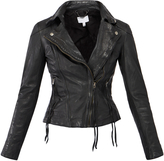 Muu Baa Muubaa Black 'Meggie' Leather Biker Jacket