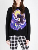 Christopher Kane Floral-jacquard wool-blend jumper