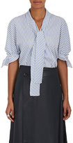 J.W.Anderson Women's Striped Cotton Tie-Neck Blouse