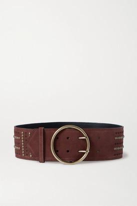 Etro Studded Suede Waist Belt - Brown