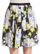 French Connection Botanical Lace Pleated Skirt