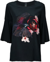 Romance Was Born 'Magnolia Dove' frill T-shirt - women - Silk - 8