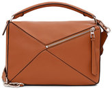 Loewe Small Leather Puzzle Bag, Tan