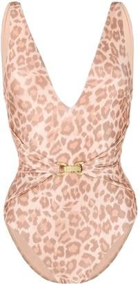 Zimmermann Leopard Print Swimsuit