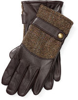 Polo Ralph Lauren Tweed-Leather Gloves