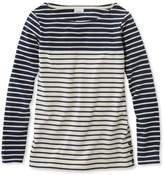 L.L. Bean L.L.Bean Nautical Stripe Tops, Pullover Colorblock