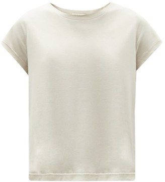 Vaara Mary Cropped Jersey T-shirt - Light Beige