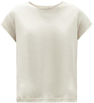 Vaara Mary Cropped Jersey T-shirt - Light Beige