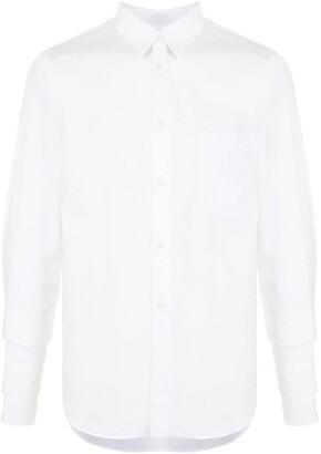 Black Comme Des Garçons Cuff Detail Poplin Shirt