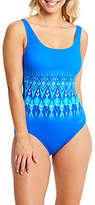 Zoggs Aqua Reef Control Swimsuit Blue/Multi