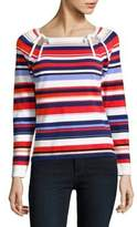 Lord & Taylor Petite Stripe Top