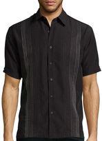 HAVANERA Havanera Co. Short-Sleeve Texture Ombre Button-Front Shirt