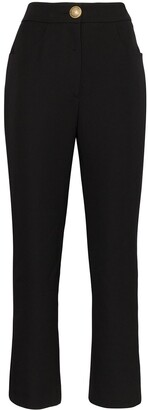 Balmain High-Rise Cropped Trousers