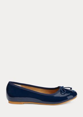 Ralph Lauren Nellie Leather Ballet Flat