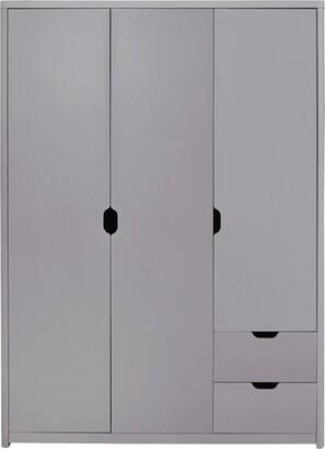 Aspen 3 Door, 2 Drawer Wardrobe - Grey Oak Effect