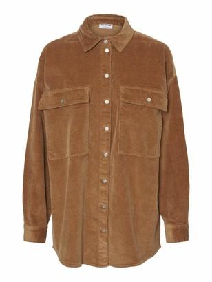Noisy May Women's NMFLANNY L/S Long Corduroy Shacket BG S Jacket