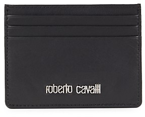 Roberto Cavalli Leather Card Case