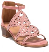 OLIVIA MILLER Jeweled Cutout Heeled Sandal (Toddler, Little Kid & Big Kid)