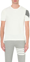 Moncler Gamme Bleu Striped sleeve cotton-jersey t-shirt