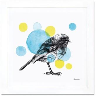 iCanvas 'Sketchbook - Bird' Giclee Print Framed Canvas Art
