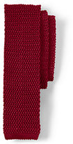 Lands' End Men's Classic Silk Knit Necktie-White