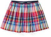 Ralph Lauren Plaid Poplin Pull-On Skirt