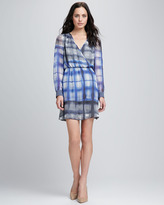 Check-Print Crossover Dress