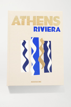 Assouline Athens Riviera By Stephanie Artarit Hardcover Book - Blue