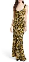 Diane von Furstenberg Women's Print Silk Bias Slip Gown