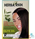Crème of Nature Herba Rich Ultra Conditioning No-Lye Relaxer System, Olive Oil Regular