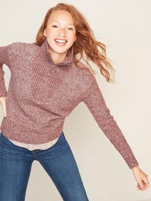 Old Navy Mock-Neck 1/4-Zip Sweater for Women