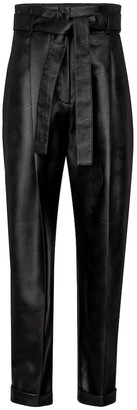Philosophy di Lorenzo Serafini High-rise faux leather tapered pants