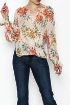 Ark & Co Sheer Floral Blouse