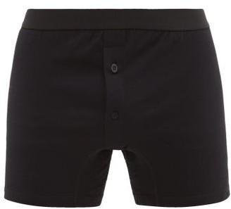 Comme des Garcons Low-rise Cotton Boxer Briefs - Mens - Black