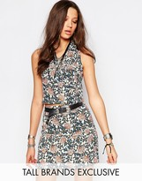 Glamorous Tall Wrap Front Crop Top In Floral Print