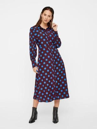 Y.A.S Gwen Midi Shirt Dress Fudge - XS