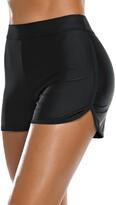 Thumbnail for your product : Bonneuitbebe Women's Swim Shorts High Waist Bathing Suit Board Shorts Swimsuit Bottoms Bikini Boyshorts - black - Small