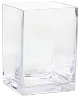 Threshold Square Glass Vase Clear (8
