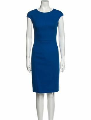 Oscar de la Renta 2014 Knee-Length Dress w/ Tags Wool