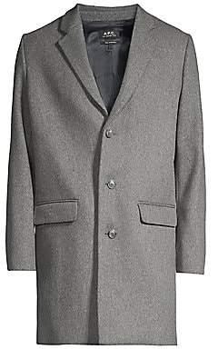A.P.C. Men's Wool-Blend Coat