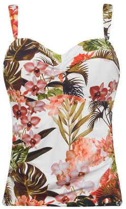Figleaves Bali Palm Undewired Bandeau Tankini Top