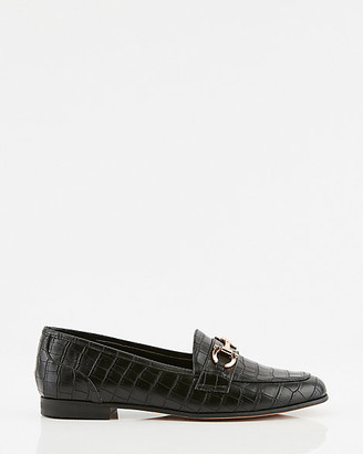 Le Château Croco Embossed Faux Leather Loafer