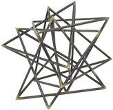 Three Hands Decorative Metal Starburst - Black