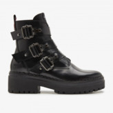 Nubikk NUBIKK - Black Fae Buckle Boots - leather | black | 40 - Black/Black